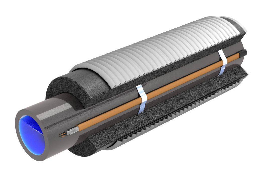 Электрообогрев трубопроводов с теплоизоляцией