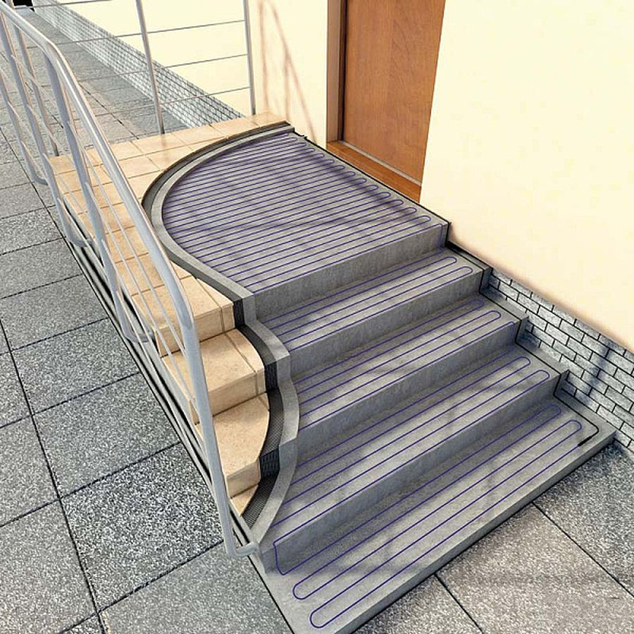 Электрообогрев лестниц