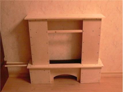 портал для камина из фанеры