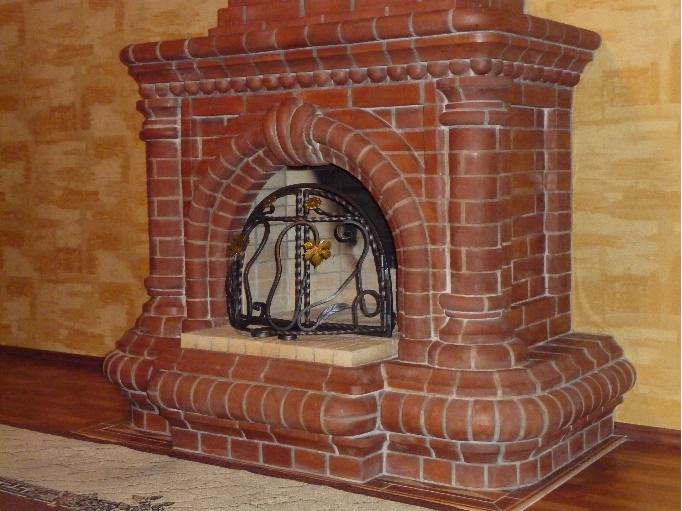 Камин из кирпича