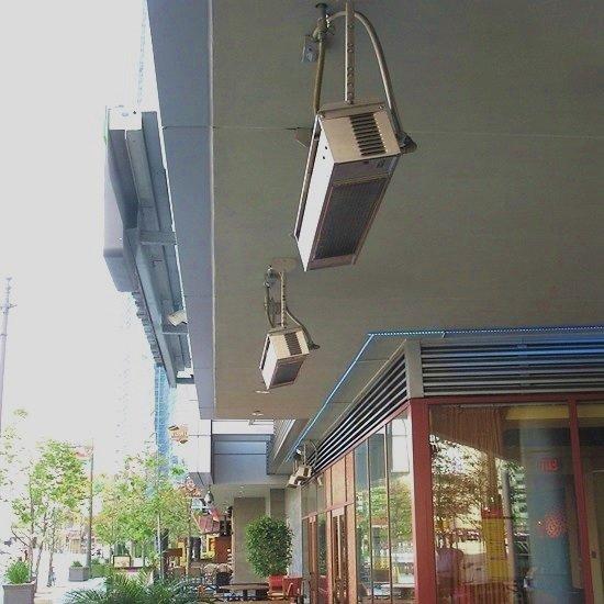 Инфракрасный обогреватель потолочный уличный