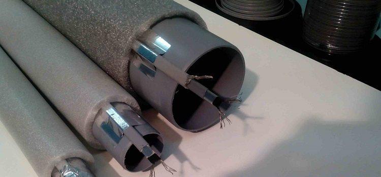 Наружный обогрев трубопровода греющим кабелем