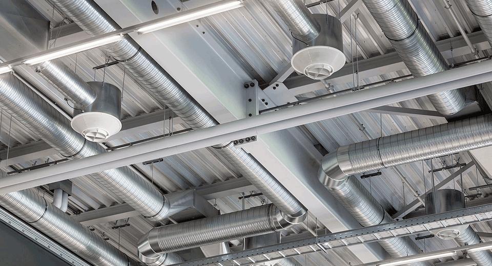 Система вентиляции промышленных масштабов